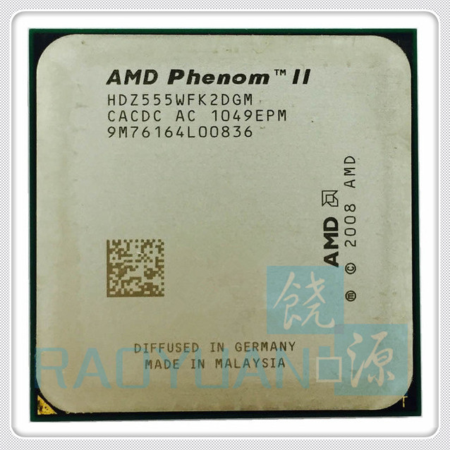 AMD Phenom X2 555 3.2GHz Dual-Core (3.2Ghz/ 6M /80W / 2000GHz) CPU Processor HDZ555WFK2DGM Socket AM3 938pin