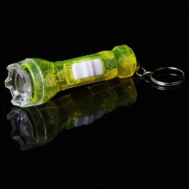 Mini LED Flashing Flashlight Toys Kids Children Flash Light Key Rings Light  Toys Birthday Party Favors Gift  Christmas