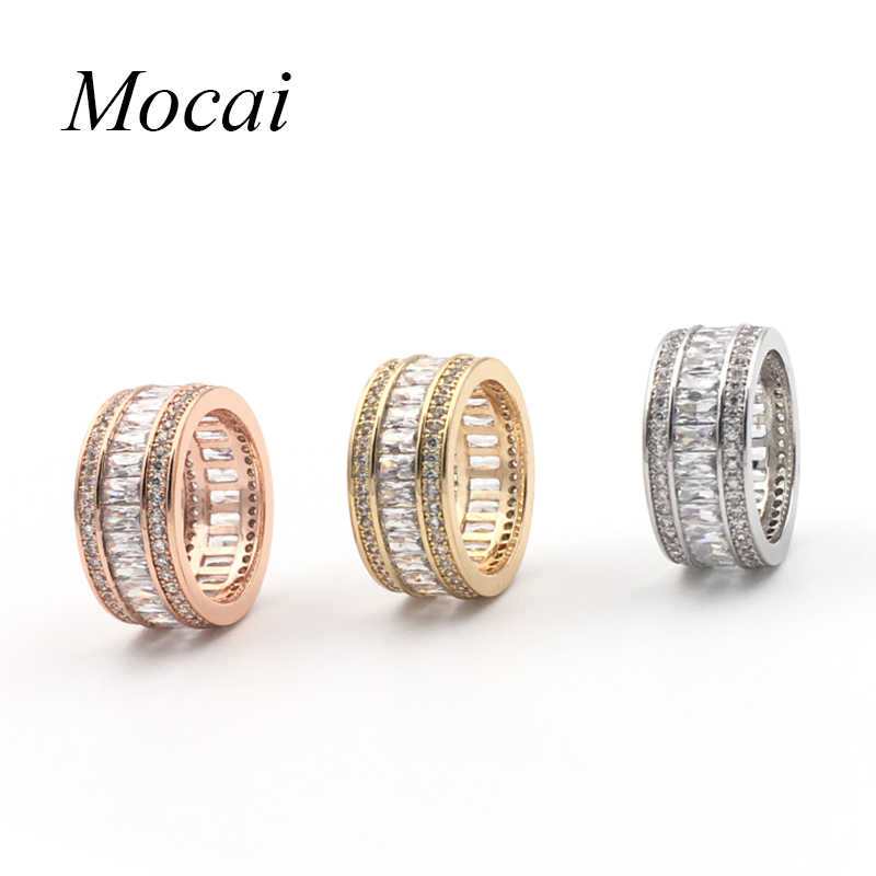2016 famous brand design luxury full aaa cubic zirconia round shiny party rings for women fine