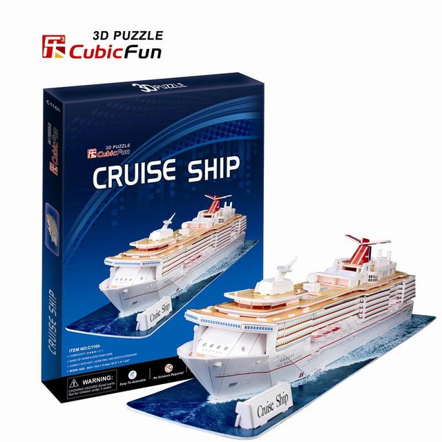 Kingtoy paper craft 3D puzzles - the United States cruise (C series) assembling toys free shipping Child Diy Toy
