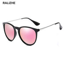 2019 New Brand Designer Polarized Sunglasses Womens Retro Vintage Cat Eye Sun Glasses Fashion Flash Mirror Pink Blue Goggles цена 2017