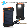 TOP Banco de la Energía Solar de Viaje Dual USB Banco de la Energía 10000 mah Paquete de Batería Externa del Cargador Portátil Batería Externa para Móviles teléfono