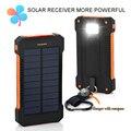 TOP Viagens Power Bank 10000 mah Solar Power Bank Dual USB Bateria Externo Portátil Carregador de Bateria Externa Pack para Celular telefone