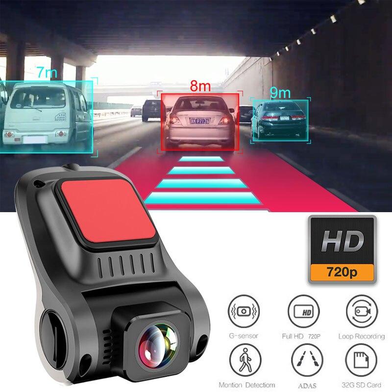 Carro traço cam adas dvr 720 p hd g-sensor completo câmera de visão traseira visão noturna gravação retrovisor câmera traço carro dvrs gravador de vídeo