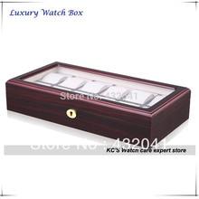 Высокое качество 12 сетка вуд чехол дисплей показать хранения организатор лучший подарок на рождество отца день GC02-TZ-12W