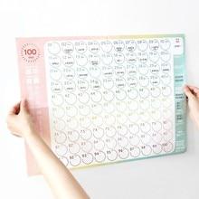 JIANWU, 100 дней, календарь обратного отсчета, График обучения, планировщик, Svelte, проверка, обратный отсчет, kawaii