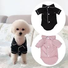 Купить с кэшбэком Cute Pet Dog Clothes For Dogs Pajamas Pet Sleepwear Winter Dog Costume Puppy Cat Shirts For Dog Clothing Pet T-shirt