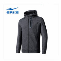 Erke men's shirt 2018 autumn and winter new sports comfortable windproof cardigan hooded sweater