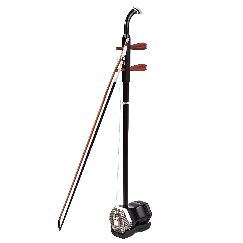 Solidwood Erhu Chinese 2-string Violin Fiddle Stringed Musical Instrument Dark Coffee