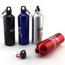 New sports bike riding Water Bottle 400-750ml outdoor portable aluminum camping climbing Water Bottles Explosive sales  c new 400 600ml 3 color solid plastic spray cool summer sport water bottle portable climbing outdoor bike shaker my water bottles