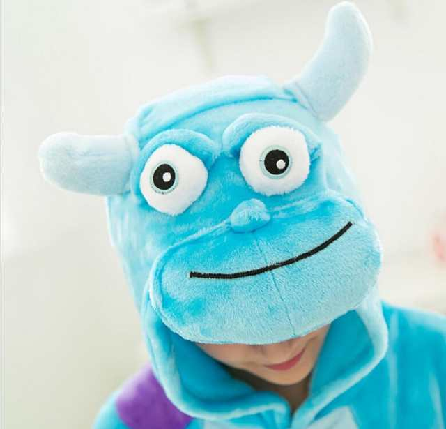 1ecb120090 Online Shop Blue Monster University Sulley Sullivan Onesies Pajamas Cartoon  Costume Cosplay Pyjamas Adult Animal Onesies Party Pijamas