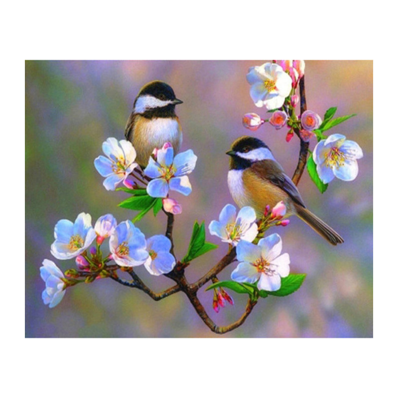 Bird Couple Crystal Rhinestone Embroidery Painting Pictures Kit for Adults Kids Birds Lover Tree House Diamond Arts Craft Decor 4 Pack Full Drill Diamond Painting by Number Kits