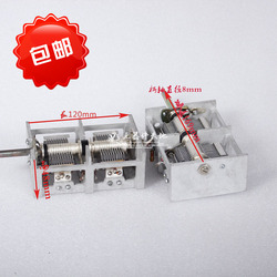 CB-2-215 disassemble double variable capacitor Fudan silver plated silver plated contacts