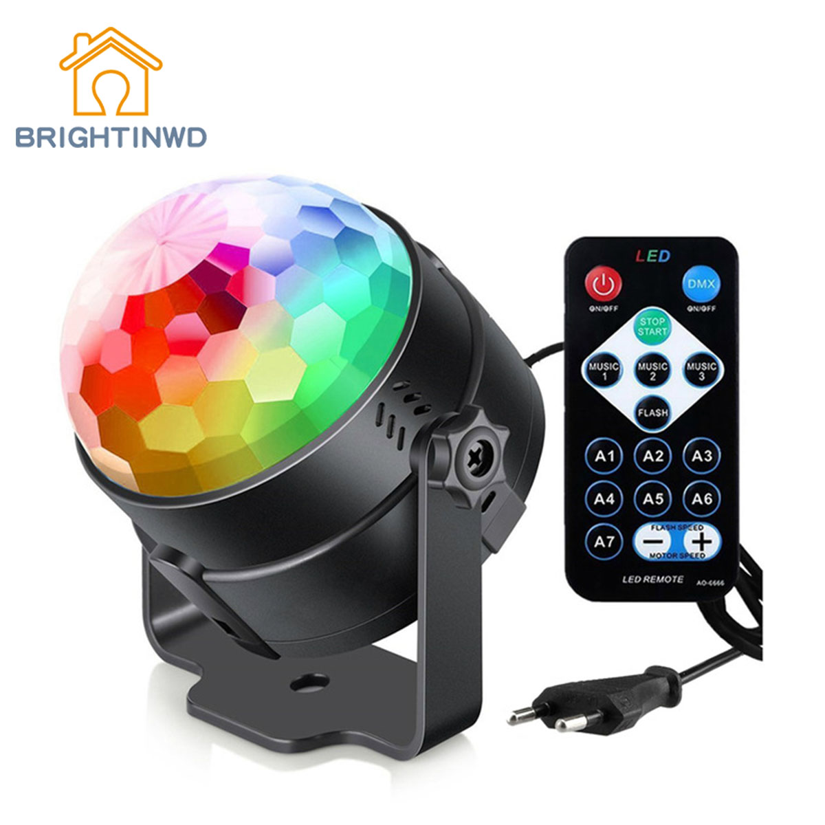 DJ KTV Disco DMX Laser Light Christmas Projector Party Lamp Sound Remote Strobe Effects RGB Disco Lamp Ball LED Stage Lighting 2pcs par 24w rgb led stage light disco dj bar christmas wedding party laser projector lighting dmx 512 strobe lo