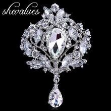 Shevalues Marca Royal Corona Diseño Pins Broches Ramillete Accesorios Nuevo Broche De Cristal De Cristal Más Nuevo de La Vendimia Bijouterie Bijoux