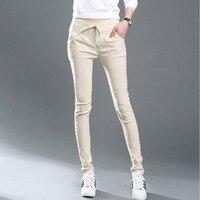 Verão 2017 das Mulheres Calças Moda Bolso de Corpo Inteiro Plus Size 3XL Solto Harem Pants Casuais calças femininas