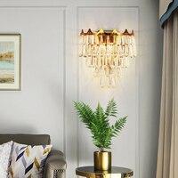 Хрустальный настенный светильник освещение для лестницы спальня прикроватная лампа на стену светильник lampara сравнению лестница Лофт Декор