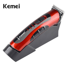 KM-609A chargeable hair trimmer clipper haircut Skilled with charging stand eight hours cost time 220V 50Hz