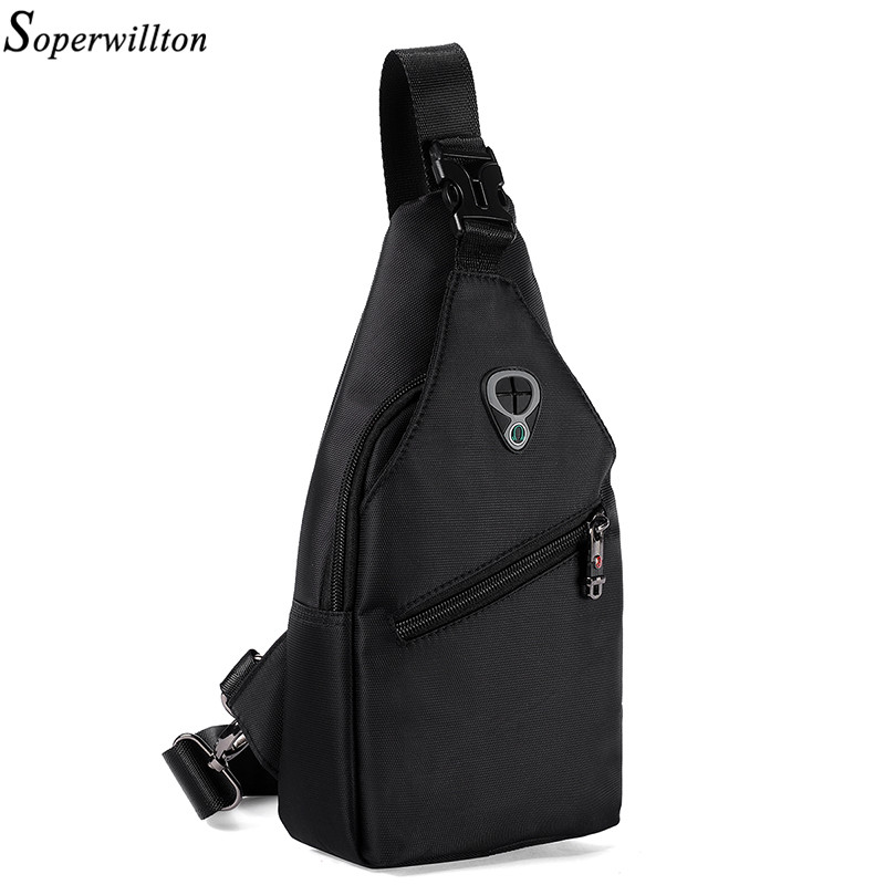 Soperwillton Men Crossbody Bag Men's Bag Shoulder Chest Pack 2019 Oxford Travel Chest Bag Men Bag Male
