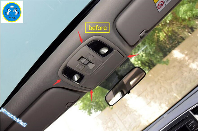 New Style ! Interior For KIA Sportage 2016 ABS Front + Rear Roof  Reading  Light  Lamp Cover Trims 3 Pcs / Set