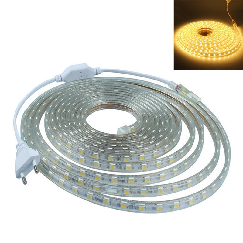 Bright 5050 Tape Light: High Bright 5050 Flexible LED Strip Light 1/2/3/4/5m 12V