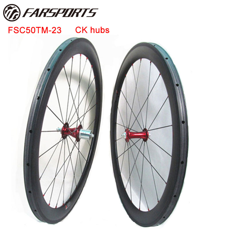 Far Sports light weight Chris King hubs wheels 700C 50mm x 23mm tubular rims for road bike , Pro wheels builder and engineers цена