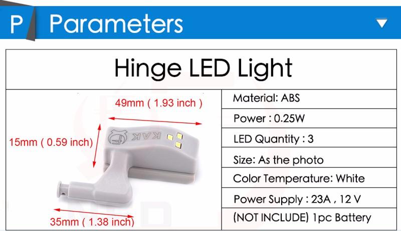 10 шт./лот как светодиодный свет для универсальный мебель кухня спальня гостиная шкаф петля свет