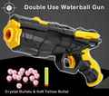 2016 New Double Use Soft Bullet Gun Water Gun Toy EVA Bullet Water Bomb Dual-purpose Pistol Bursts of crystal toy Shooting Nerf
