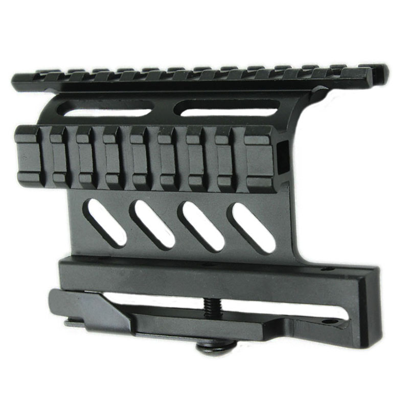 Фунповерланд тактички АК серијски носач за бочни носач брзи КД стил 20 мм одвојка ткалачка шина двострана бочна АК обим нишана пушка