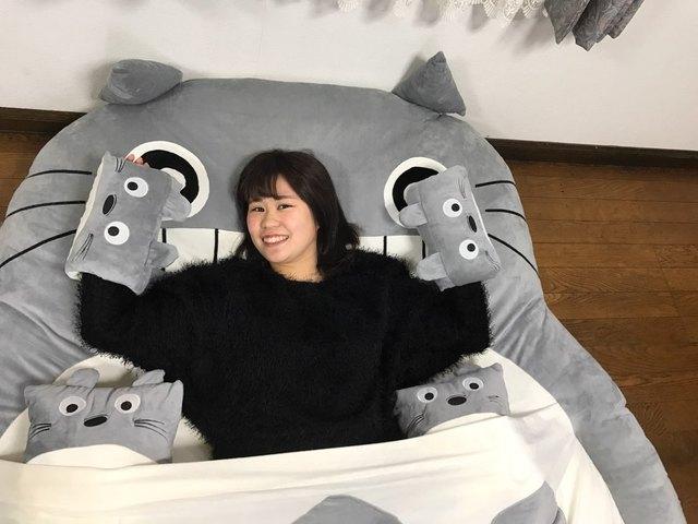 Totoro Cama Doble Suave Cojín/Saco de dormir Enorme Lindo de Dibujos Animados Juego de Cama Cama Cubierta De Colchón de Espuma de Memoria Almohadilla Protector 170X200 CM