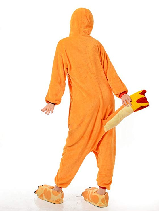 Women Men Charmander Unisex Adult Animal Sleep Suit Costume Pajamas Outfit Costume