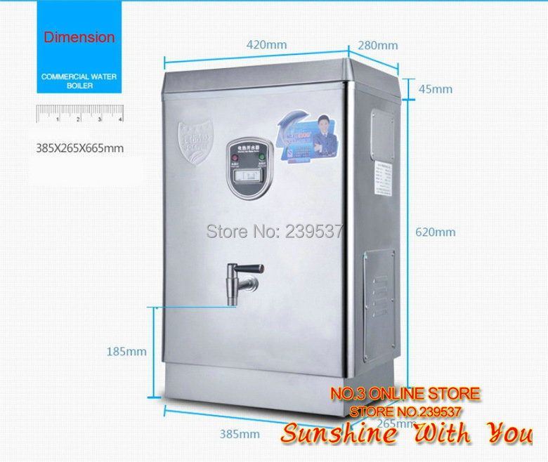 220V 28L/H Commercial water boiler Automatic stainless steel 304 ...