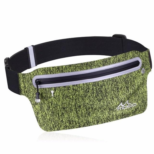 e3b2e4aa98c9 US $14.29 |Sports Running Belt, Ultra Slim Reflective Waist Bag Sweatproof  Fanny Pack Belt,Water Resistant Gear Bag for iPhone X/8 Plus/8/7-in Running  ...