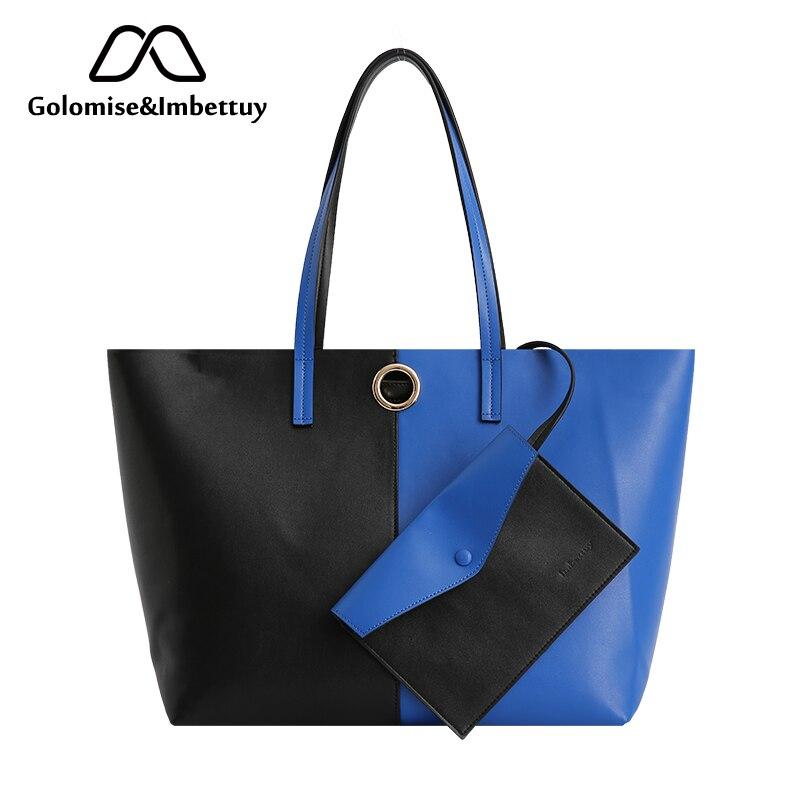 Golomise & Imbettuy sacs à main fourre-tout pour femmes Faux cuir lisse épaule Messenger sacs dames mode grand Hobo sac ensembles