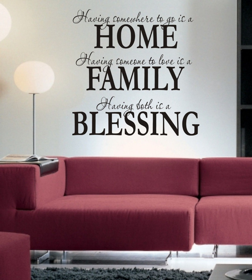 kitchen sticker quotes promotion shop for promotional kitchen home family blessing wall art sticker quote living room hallway kitchen wall decals 3 sizes