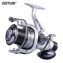 Goture Upgrade Long Casting Spinning Fishing Reel Metal Spool Double Brake Carp Fishing Feeder Fishing Wheel Coil  5.2:1