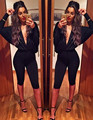 2016 women jumsouit,deep v vest jumpsuit sexy nightclub jumpsuit