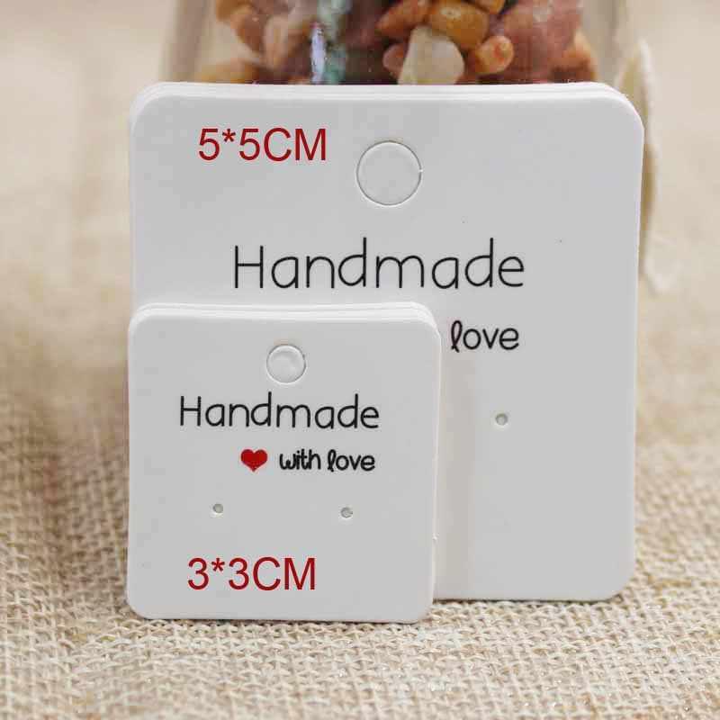 Mulit Размер DIY ювелирные изделия ручной работы упаковочная карта для серьги милые серьги-гвоздики/серьги-капли дисплей карты 100 шт в партии