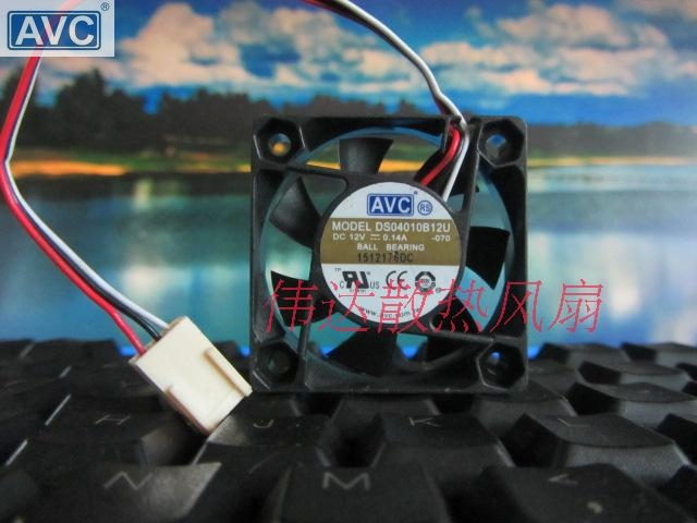 For AVC DS04010B12U 4010 Dual Ball-bearing 12V 0.14A 4cm 5,500RPM 28.18CFM CPU Axial Cooling Fan