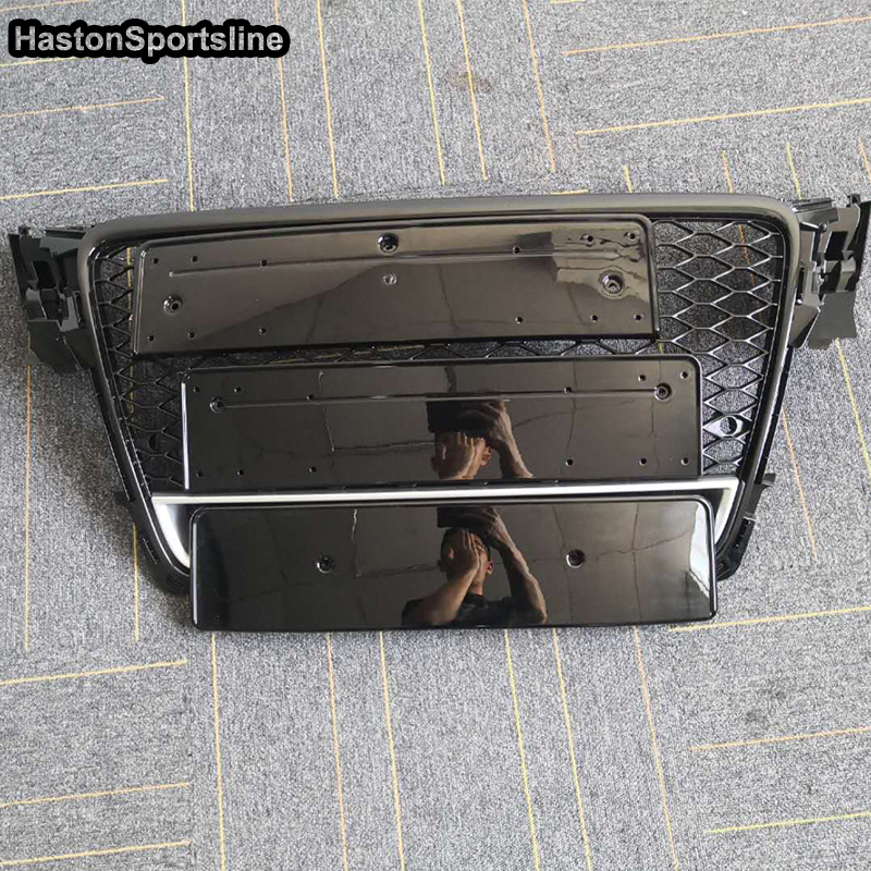Honeycomb Mesh Front Grill Grille For Audi A4 B8 S4 RS4 S