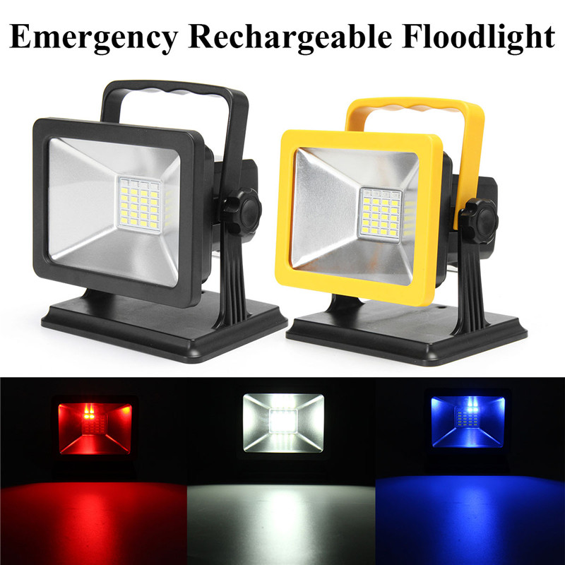 Missing Rechargeable Portable Floodlights 24 LED Emergency Warning Flood Light Outdoor Lighting With US Adapter Car Charger