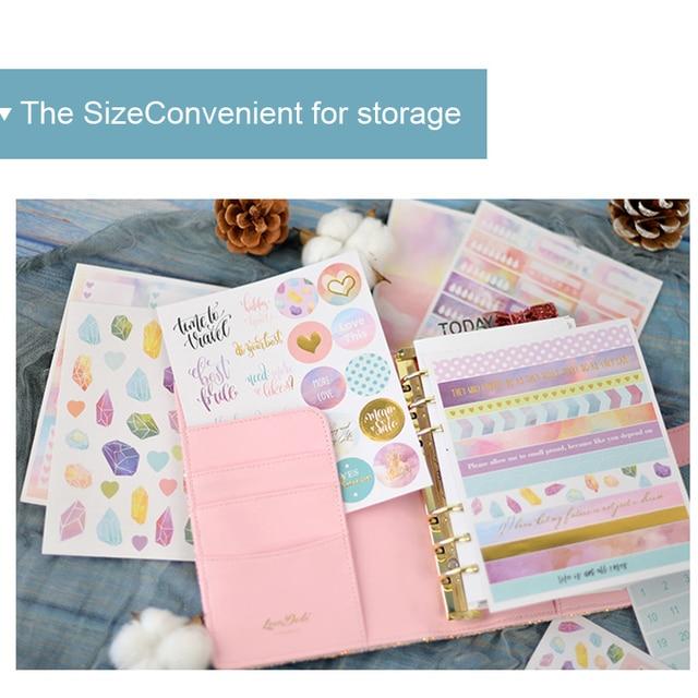 Lovedoki 2020 Beautiful Clouds Sticker Notebook Planner Decorativ Bullet Journal Stickers Japanese Stationery School Supplies 5