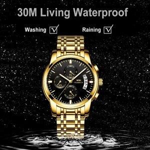 Image 5 - OLMECA Men Watch Luxury Watches Relogio Masculino 3ATM Waterproof Watches Calendar Wristwatch For Men Stainless Steel Band Saat