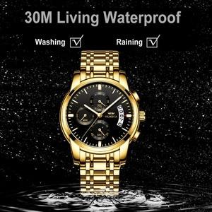 Image 5 - OLMECA męskie zegarki zegarki luksusowe Relogio Masculino 3ATM zegarki wodoodporne zegarek na rękę z kalendarzem dla mężczyzn pasek ze stali nierdzewnej Saat