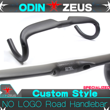 OdinZeus NO LOGO Full Carbon Ultra-light Superstrong UD Gloss/Matte Road Bicycle Racing Handlebar Bent Bar 31.8mm*400/420/440mm