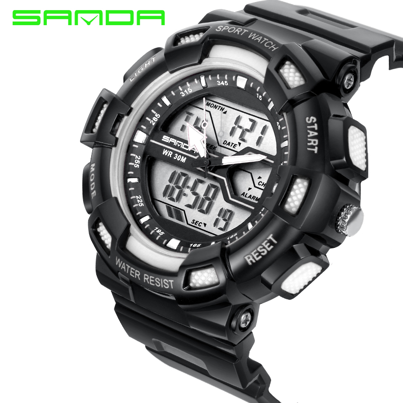 New Fashion Men Women Sports Lovers Digital Analog Watches Male Female Anti seismic Dual Time Waterproof