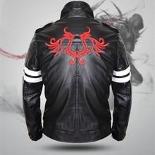 Для игры Pototype Алекс Мерсер черная кожаная куртка пальто с вышивкой дракона Для мужчин куртка