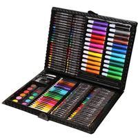 150pcs Set Kids Gift Educational Drawing Set Crayon Brush Chalk Sketch Pencil Watercolors Powder Painting School