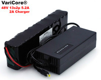 VariCore 48 فولت 5.2ah 13s2p عالية الطاقة 5200 مللي أمبير 18650 بطارية السيارة الكهربائية دراجة نارية الكهربائية 54.6 فولت BMS حماية + 2A شاحن-في مجموعات البطاريات من الأجهزة الإلكترونية الاستهلاكية على