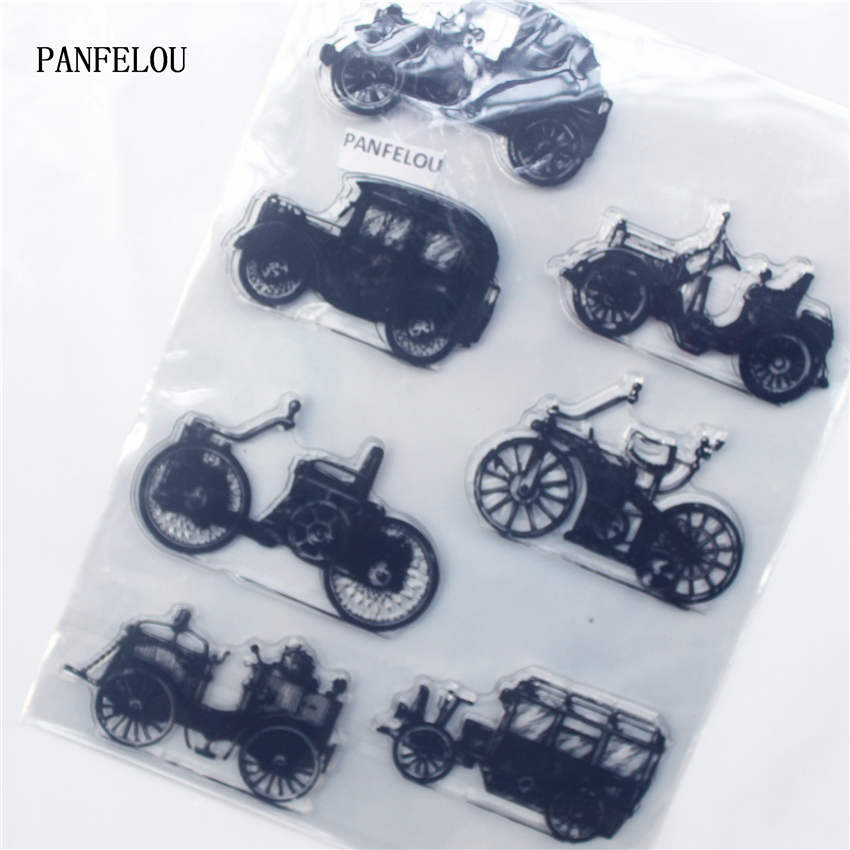 PANFELOU The old car Transparent Clear Silicone Stamp/Seal DIY scrapbooking/photo album Decorative clear stamp sheets the little old lady in saint tropez